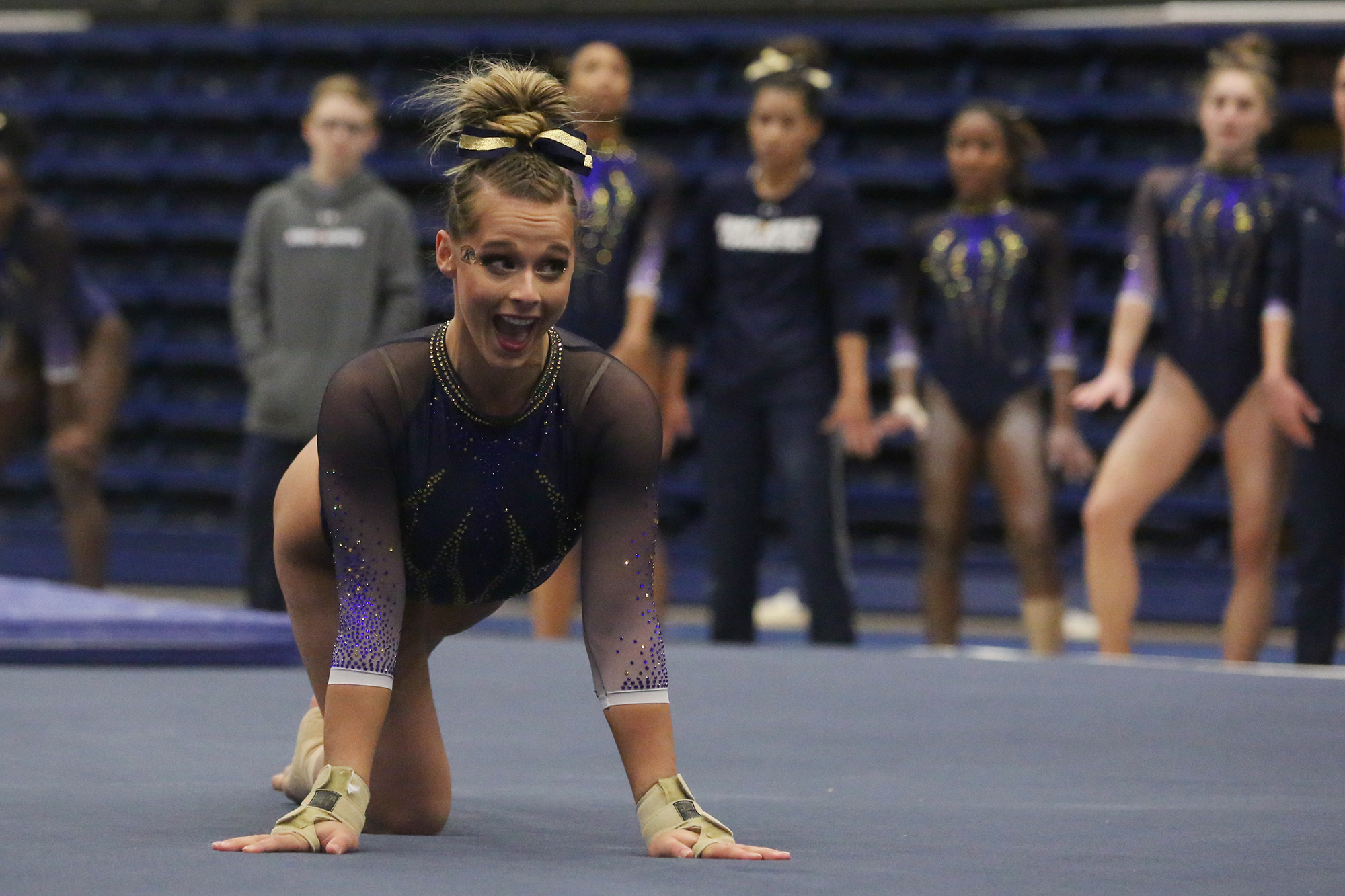 20b900e5fe89 Fletcher Claims Floor Title at MAC Gymnastics Championships - Kent State  University Athletics